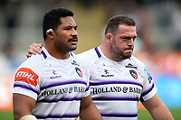 Tatafu Polota-Nau and Greg Bateman of Leicester Tigers look dejected after the match. Gallagher Premiership match, between Exeter Chiefs and Leicester Tigers on September 1, 2018 at Sandy Park in Exeter, England. Photo by: Patrick Khachfe / JMP