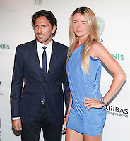 NHL player Henrik Lundqvist and tennis player Daniela Hantuchov&aacute; attend the 13th Annual 'BNP Paribas Taste of Tennis' at the W New York.  New York City, August 23, 2012. &copy;&nbsp;Diego Corredor/MediaPunch Inc. /NortePhoto.com<br />