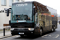Fleetwood Town FC arrive by coach during the Sky Bet League 1 match between Charlton Athletic and Fleetwood Town at The Valley, London, England on 17 March 2018. Photo by Carlton Myrie.