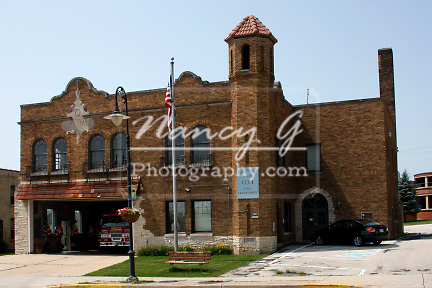 Village of Menomonee Falls Wisconsin Fire Station 1 built in 1929 on Appleton Avenue