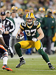 Green Bay Packers wide receiver Jordy Nelson (87) carries the ball during a week 16 NFL football game against the Chicago Bears on December 25, 2011 in Green Bay, Wisconsin. The Packers won 35-21. (AP Photo/David Stluka)