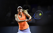 27th April 2017, Stuttgart, Germany; Maria Sharapova (RUS) in action at the Porsche Tennis Grand Prix Stuttgart; This was the first tournament back after suspension