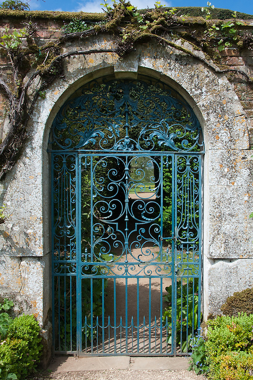 Door to the walled garden, Rousham House.