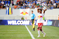 Roy Miller (7) of the New York Red Bulls. The Los Angeles Galaxy defeated the New York Red Bulls 1-0 during a Major League Soccer (MLS) match at Red Bull Arena in Harrison, NJ, on August 14, 2010.