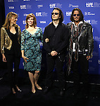 Amy Berg, Lorri Davis, Damien Echols & Johnny Depp attending the The 2012 Toronto International Film Festival.Photo Call for 'West of Memphis' at the TIFF Bell Lightbox in Toronto on 9/8/2012
