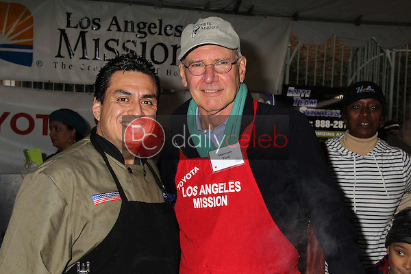Harrison Ford<br /> at the Los Angeles Mission Christmas Eve For The Homeless, Los Angeles Mission, Los Angeles, CA 12-24-12<br /> David Edwards/DailyCeleb.com 818-249-4998
