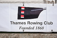 Henley on Thames. United Kingdom.  Remenham Club, founder members blade/oar colours. Monday,  27/06/2016,   16:59:06   2016 Henley Royal Regatta, Henley Reach.   [Mandatory Credit Peter Spurrier/ Intersport Images]