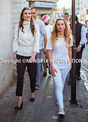 16.08.2015; Amman, Jordan: QUEEN RANIA AND DAUGHTER PRINCESS IMAN<br />