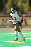 Stanford, CA - SEPTEMBER 27:  Midfielder Camille Gandhi #2 of the Stanford Cardinal during Stanford's 7-0 win against the Pacific Tigers on September 27, 2008 at the Varsity Field Hockey Turf in Stanford, California.