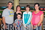 GREYHOUN FUN: Having great fun at the Kingdom Greyhound Stadium on Friday l-r: Dave Sinclair, Ann-Marie Clancy, David, Emma and Imelda Sinclair.