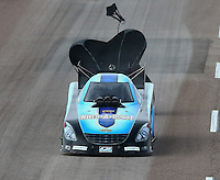 Feb 21, 2015; Chandler, AZ, USA; NHRA funny car driver Jeff Diehl during qualifying for the Carquest Nationals at Wild Horse Pass Motorsports Park. Mandatory Credit: Mark J. Rebilas-