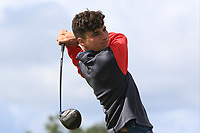 Mel Deasy (Bantry Bay) on the 14th tee during the Final round in the Connacht U16 Boys Open 2018 at the Gort Golf Club, Gort, Galway, Ireland on Wednesday 8th August 2018.<br /> Picture: Thos Caffrey / Golffile<br /> <br /> All photo usage must carry mandatory copyright credit (&copy; Golffile   Thos Caffrey)