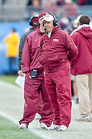 January 01, 2010:   Florida State head coach Bobby Bowden during Konica Minolta Gator Bowl College football action between the West Virginia Mountaineers and the Florida State Seminoles played at the Jacksonville Municipal Stadium in Jacksonville, Florida on January 01, 2010.  Florida State defeated West Virginia 33-21.