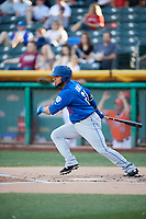 Johnny Monell (21) of the Las Vegas 51s bats against the Salt Lake Bees at Smith's Ballpark on May 7, 2018 in Salt Lake City, Utah. The 51s defeated the Bees 10-8. (Stephen Smith/Four Seam Images)