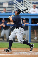 July 24 2008:  Josh Workman of the Oneonta Tigers, Class-A affiliate of the Detroit Tigers, during a game at Dwyer Stadium in Batavia, NY.  Photo by:  Mike Janes/Four Seam Images