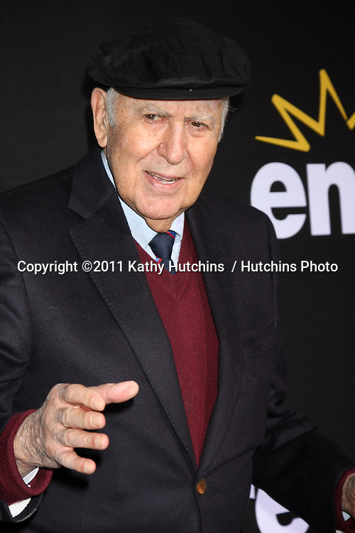 """LOS ANGELES - DEC 7:  Carl Reiner arrives at the Premiere Of Encore's """"Method To The Madness Of Jerry Lewis"""" at Paramount Studios Theater on December 7, 2011 in Los Angeles, CA"""