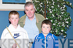 FAMILY: The Hobbert family, Padraig, Alan and Archie, from St John's Park who went to see Ronnie O'Sullivan and Ken Doherty playing in a snooker exhibition at Ballyroe Heights Hotel, Tralee, on Thursday night..