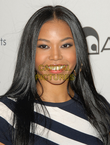 AMERIE.The Lyric Culture Launch Party held at Avalon in Hollywood, California, USA. .May 10th, 2007.headshot portrait black white striped stripes .CAP/DVS.©Debbie VanStory/Capital Pictures