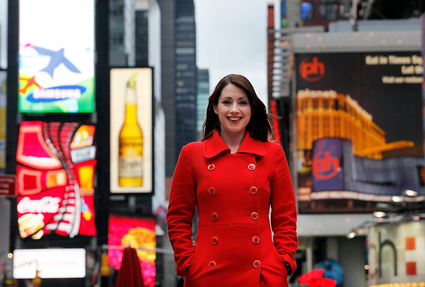 English playwright, Lucy Prebble in Times Square (Broadway) New york CIty, April 17, 2010.