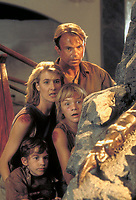 Jurassic Park (1993)<br /> Sam Neill, Laura Dern, Joseph Mazzello &amp; Ariana Richards<br /> *Filmstill - Editorial Use Only*<br /> CAP/KFS<br /> Image supplied by Capital Pictures