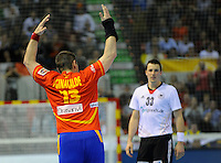 23.01.2013 World Championshio Handball. Match between Spain vs Germay at the stadium Principe Felipe. The picture show  Julen Aguinagalde Akizu (Pivot of Spain)bmsp.