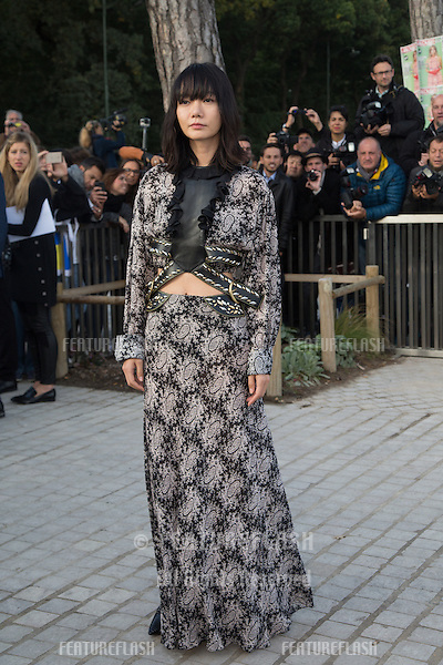 Doona Bae attend Louis Vuitton Show Front Row - Paris Fashion Week  2016.<br /> October 7, 2015 Paris, France<br /> Picture: Kristina Afanasyeva / Featureflash