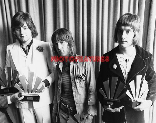 Emerson Lake &amp; Palmer 1972 ELP Greg Lake, Keith Emerson and Carl Palmer<br />&copy; Chris Walter
