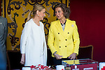 Mayor Madrid Region, Cristina Cifuentes and Queen Sofia during the Red Cross Fundraising day event (Dia de la Banderita) in Madrid, Spain. October 02, 2015.<br /> (ALTERPHOTOS/BorjaB.Hojas)