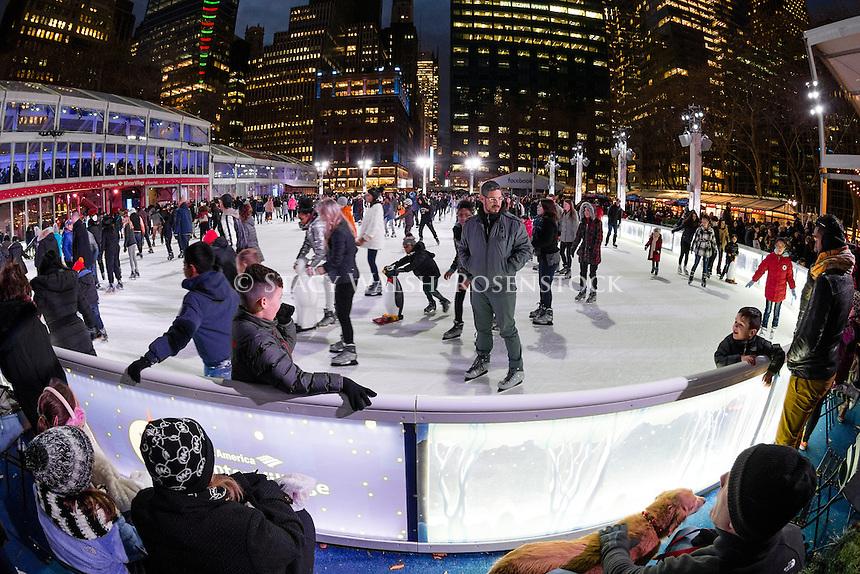 New York City, USA 28 December 2016 - Ice Skating in Bryant Park ©Stacy Walsh Rosenstock