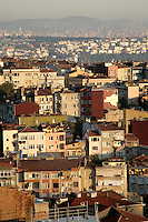 Housing, Istanbul, Turkey, looking across the European side over the Asian