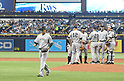Masahiro Tanaka (Yankees),<br /> APRIL 2, 2016 - MLB :<br /> Masahiro Tanaka of the New York Yankees walks back to the dugout after being pulled by manager Joe Girardi #28 in the third inning during the opening day of the Major League Baseball game against the Tampa Bay Rays at Tropicana Field in St. Petersburg, Florida, United States. (Photo by AFLO)