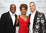 Kenny Leon, Judine Somerville and Jerry Mitchell attend the SDC Foundation presents The Mr. Abbott Award honoring Kenny Leon at ESPACE on March 27, 2017 in New York City.