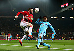 Wayne Rooney of Manchester United and Miguel Nelom of Feyenoord during the UEFA Europa League match at Old Trafford, Manchester. Picture date: November 24th 2016. Pic Matt McNulty/Sportimage