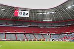 23.05.2020, Allianz Arena, München, GER, 1.FBL, FC Bayern München vs Eintracht Frankfurt 23.05.2020 , <br /><br />Nur für journalistische Zwecke!<br /><br />Gemäß den Vorgaben der DFL Deutsche Fußball Liga ist es untersagt, in dem Stadion und/oder vom Spiel angefertigte Fotoaufnahmen in Form von Sequenzbildern und/oder videoähnlichen Fotostrecken zu verwerten bzw. verwerten zu lassen. <br /><br />Only for editorial use! <br /><br />DFL regulations prohibit any use of photographs as image sequences and/or quasi-video..<br />im Bild<br />Allianz Arena innen mit Anzeige <br /> Foto: Peter Schatz/Pool/Bratic/nordphoto