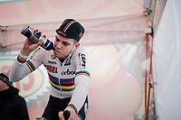 Wout Van Aert (BEL/Cibel-Cebon) warming up pre-race<br /> <br /> Elite Men's Race<br /> Belgian National CX Championschips<br /> Kruibeke 2019