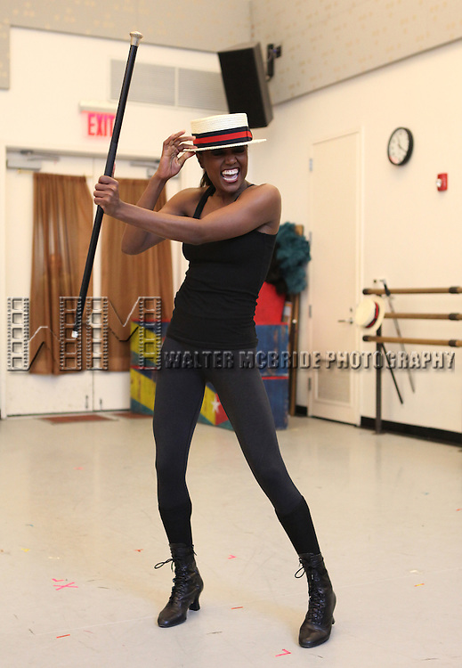Patina Miller during the Open Press Rehearsal for Broadway's 'Pippin' at The Manhattan Movement & Arts Center in New York City on 3/8/2013