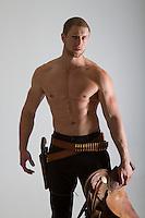 Western bearded cowboy romance novel cover photograph by Jenn LeBlanc and Studio Smexy