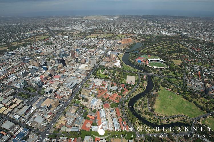 Downtown Adelaide Aerial - 2012 Santos Tour Down Under - Adelaide