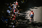 Dylan Teuns (BEL) Bahrain-Merida climbs during Stage 8 of the 2019 Tour de France running 200km from Macon to Saint-Etienne, France. 13th July 2019.<br /> Picture: ASO/Pauline Ballet | Cyclefile<br /> All photos usage must carry mandatory copyright credit (© Cyclefile | ASO/Pauline Ballet)