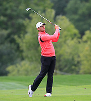 Tom Lewis (ENG) on the 5th fairway during Round 3 of the D+D Real Czech Masters at the Albatross Golf Resort, Prague, Czech Rep. 02/09/2017<br /> Picture: Golffile | Thos Caffrey<br /> <br /> <br /> All photo usage must carry mandatory copyright credit     (&copy; Golffile | Thos Caffrey)
