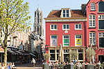 Dom Tower and historic buildings in central Utrecht, Netherlands