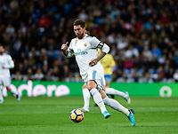 Real Madrid's Sergio Ramos and UD Las Palmas'  during La Liga match. November 5,2017. (ALTERPHOTOS/Inma Garcia)