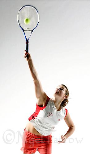 07 NOV 2006 - LOUGHBOROUGH, GBR - Christina Birtchnell - Tennis Photoshoot (PHOTO (C) NIGEL FARROW)