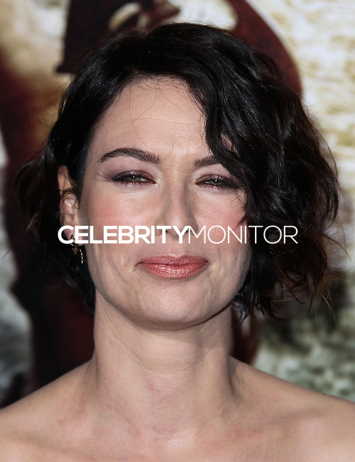 """HOLLYWOOD, LOS ANGELES, CA, USA - MARCH 04: Lena Headey at the Los Angeles Premiere Of Warner Bros. Pictures And Legendary Pictures' """"300: Rise Of An Empire"""" held at TCL Chinese Theatre on March 4, 2014 in Hollywood, Los Angeles, California, United States. (Photo by Xavier Collin/Celebrity Monitor)"""