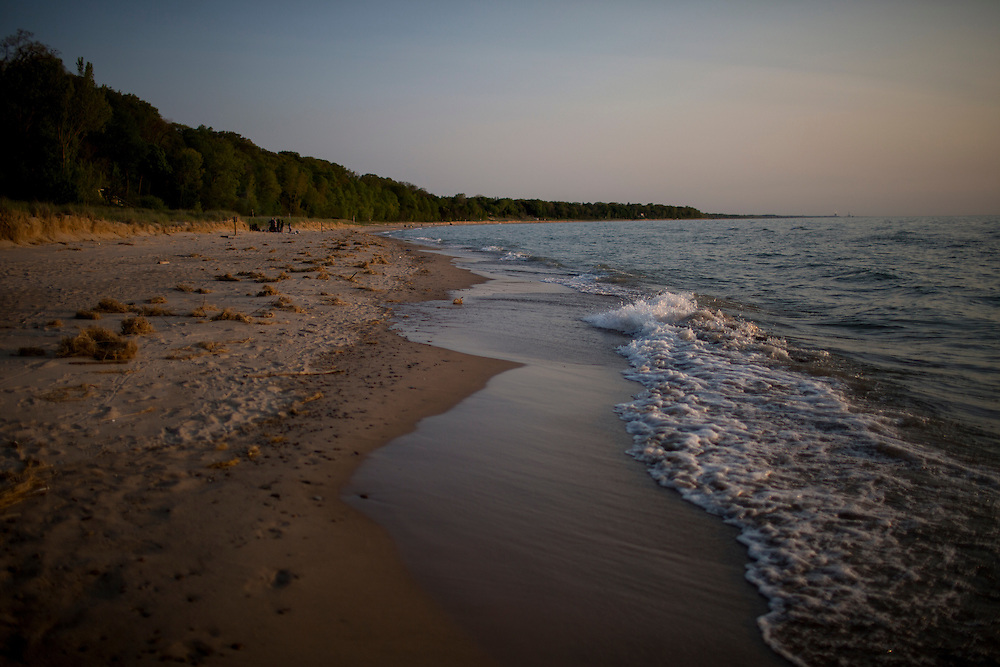 Lake Michigan waves roll into the shore on Saturday, May 21, 2016, in Lakeside, Michigan. (Photo by James Brosher)