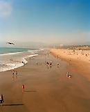 USA, California, Santa Monica, Los Angeles, view of Santa Monica State Beach from the Santa Monica Pier