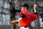 WATERBURY,  CT-041319JS12- Watertown's Rob Johnston (7) delivers a pitch during their game with Sacred Heart Saturday at Waterville Park in Waterbury. <br /> Jim Shannon Republican American