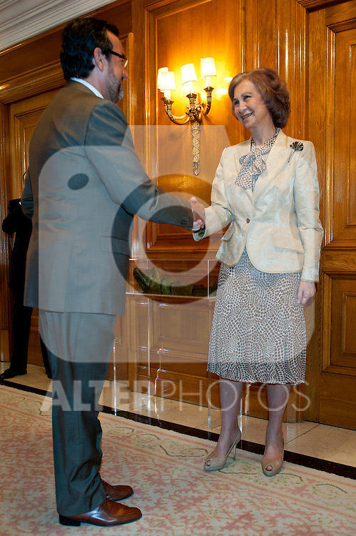 Sofia, Queen of Spain during the meeting of the Council of the Royal Board of Disability of the Ministry of Health, Social Services and Equality..(Alterphotos/Ricky)