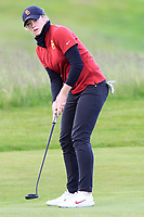 Amelia Garvey (NZL) on the 17th green during the Matchplay Final of the Women's Amateur Championship at Royal County Down Golf Club in Newcastle Co. Down on Saturday 15th June 2019.<br /> Picture:  Thos Caffrey / www.golffile.ie