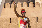 Loic Chetout (FRA) Cofidis retains the most agressive riders Gold Jersey at the end of Stage 5 of the 2018 Tour of Oman running 152km from Sam'il to Jabal Al Akhdhar. 17th February 2018.<br /> Picture: ASO/Muscat Municipality/Kare Dehlie Thorstad | Cyclefile<br /> <br /> <br /> All photos usage must carry mandatory copyright credit (&copy; Cyclefile | ASO/Muscat Municipality/Kare Dehlie Thorstad)